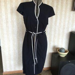 Sandra Darren Button Front Dress